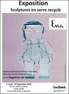 Exposition Sculptures en verre recyclé
