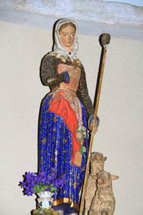 Eglise de Bourg d'Oueil Statue