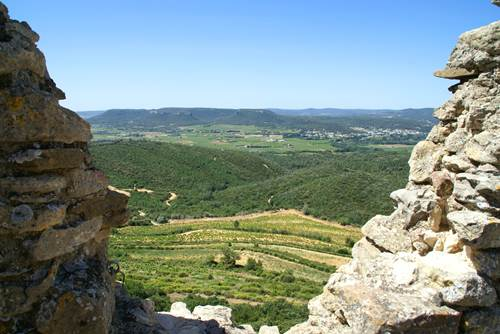 Vue du Château de Gicon