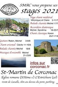 Les Stages de la SMAC à Corconac