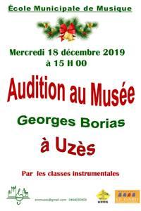 Concert au Musée Georges Borias d'Uzès