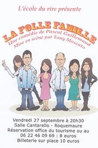 """Théâtre """"La folle Famille"""""""