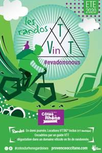 Randos VTT et Vin à Chusclan à la Maison Sinnae