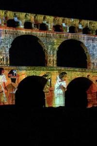 Spectacle Son & Lumière - Pont du Gard
