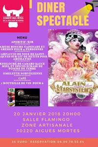 """Dîner-spectacle """"alain coquin's show & star system"""""""