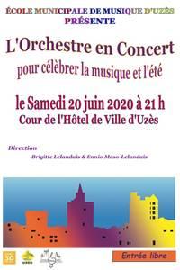 Concert de l'Orchestre de l'école municipale de musique d'Uzès