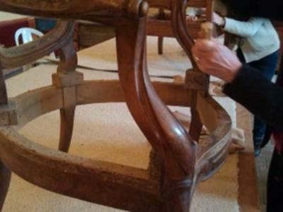 stage tapisserie d'ameublement, refection de sièges de 3 à 5 jours