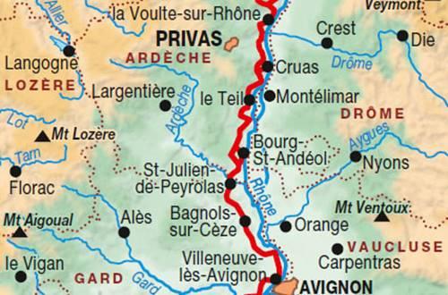 Itinéraire du GR 42 ©