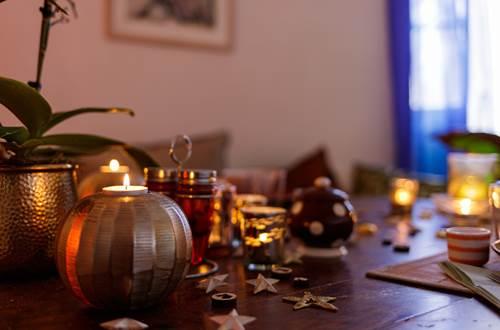 la vieille maison Durfort petit dejeuner detail table ©