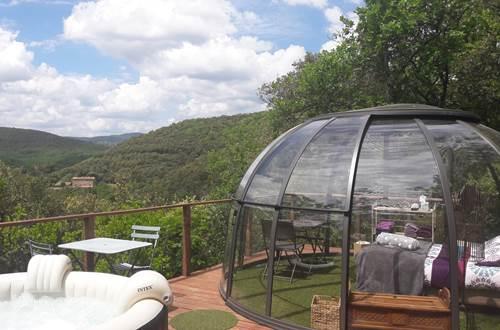 dome Cassiopée avec son jaccuzi privatif ©
