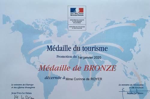 médaille du tourisme 2020 ©