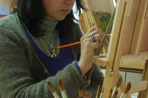 Sylvie Roussel Meric - atelier de peinture ©