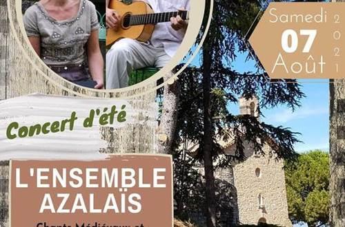Concert d'été Laudun Ensemble Azalaïs ©