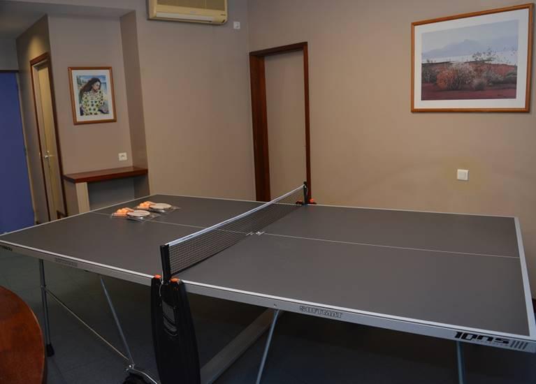 La salle de ping-pong